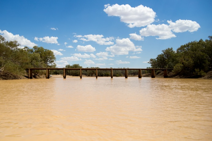 Flooded Cooper Creek